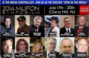 The 2014 MUFON Symposium weekend in Cherry Hill, NJ.