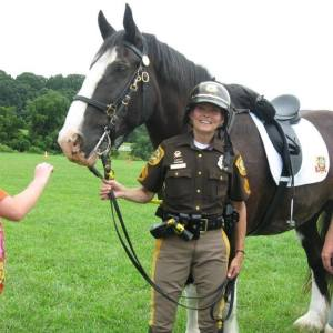 Sergeant Mary Divine, New Castle County Police Mounted Patrol Unit.