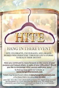 The Hang In There Event, at the Clarion Hotel, April 26, 2015 Get your tickets now!