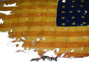 This U.S. flag was flown in the front lines of the Civil War battles of Antietam, Chancellorsville and Gettysburg with the regiment, which served in the II Corps of the Army of the Potomac.   Join us Live @ www.wfai1510.com/programs/20